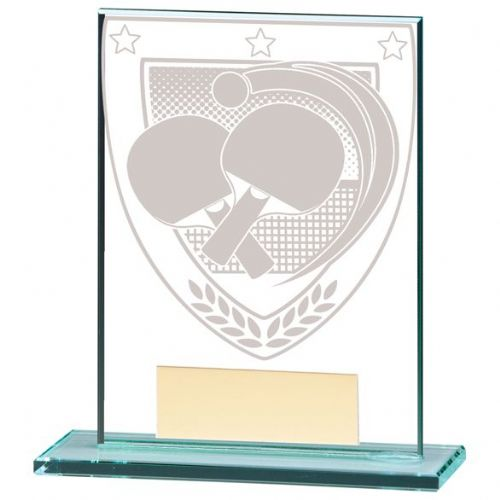 Millennium Table Tennis Jade Glass Award 110mm